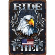River's Edge Products Ride Free Tin Sign Wall Art