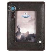 River's Edge Products 4'' x 6'' Leather Look Bling Picture Frame