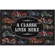 River's Edge Products A Classic Motorcycle Doormat