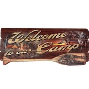 River's Edge Products Camp Welcome Wood Sign Wall Art