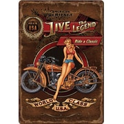 River's Edge Products Live The Legend Tin Sign Wall Art