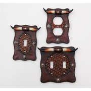 River's Edge Products Longhorn Switch Plate Cover (Double)