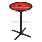 Holland Bar Stool Corvette - C6 42'' Pub Table; Red / Black