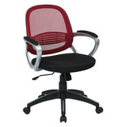 OSP Designs Bridgeport Mid-Back Office Chair; Red