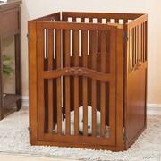 Elegant Home Fashions Lily 4 Panel Convertible Dog Gate w/ One Walk Through Panel; Large
