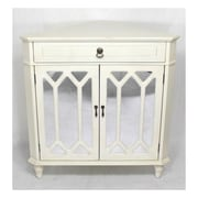 Heather Ann Wooden Corner Cabinet w/ 1 Drawer and 2 Doors; Antique White
