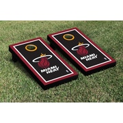 Victory Tailgate NBA Border Version Cornhole 10 Piece Game Set; Miami Heat
