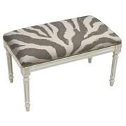 123 Creations Animal Print Upholstered and Wood Bench; Smoky Gray