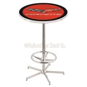 Holland Bar Stool Corvette - C6 Pub Table; Red / Black