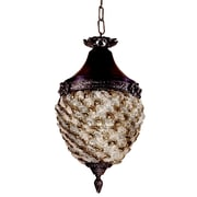 Dale Tiffany Glass Flower Hanging 1-Light Mini Pendant