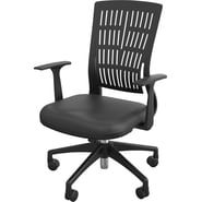 Balt Fly Mid Back Office Chair with Arms; Black