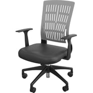 Balt Fly Mid Back Office Chair with Arms; Gray