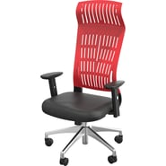 Balt Fly High Back Office Chair with Arms; Red