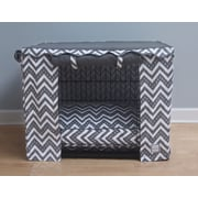 BowhausNYC Fair Isle Dog Crate Cover; Large