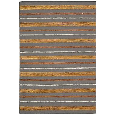 Nourison Spectrum Gray Flame Rug; 3'9'' x 5'9''