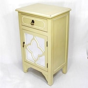 Heather Ann Wooden Cabinet with 1 Drawer and 1 Door; Cream