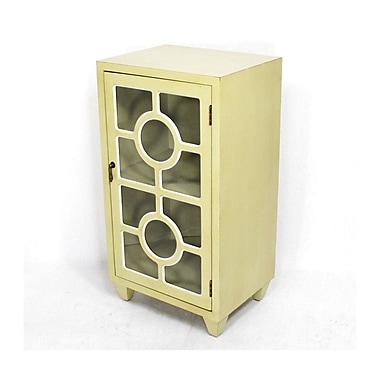 Heather Ann Wooden Cabinet w/ 1 Door; Yellow