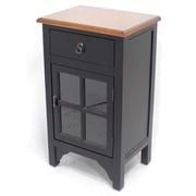 Heather Ann Wooden Cabinet with 1 Drawer and 1 Door; Brown Top