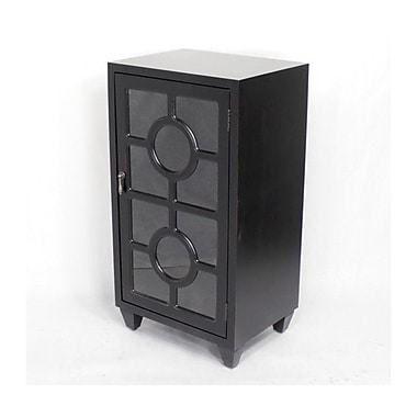 Heather Ann Wooden Cabinet w/ 1 Door; Black