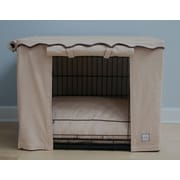 BowhausNYC Stone Beige Dog Crate Cover; Small
