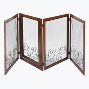 Elegant Home Fashions Digby 4 Panel Convertible Dog Gate w/ One Walk Through Panel; Large