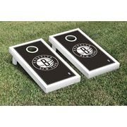 Victory Tailgate NBA Border Version Cornhole 10 Piece Game Set; Brooklyn Nets