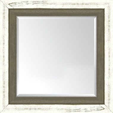 Melissa Van Hise Framed Mirror; French White and Farmhouse Brown