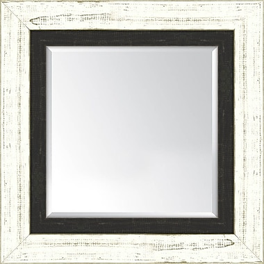 Melissa Van Hise Wall mirror; French White and Slate Black
