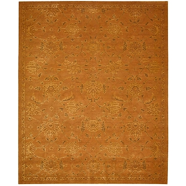 Nourison Silk Infusion Copper Damask Area Rug; Runner 2'6'' x 10'
