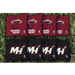 Victory Tailgate NBA Replacement All Weather Cornhole Bag Set; Miami Heat