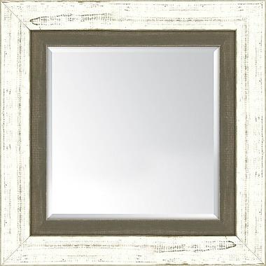Melissa Van Hise Wall mirror; French White and Farmhouse Brown