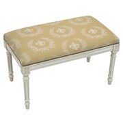 123 Creations French Upholstered and Wood Bench