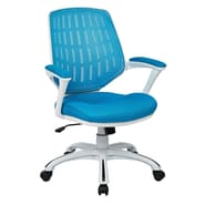 OSP Designs Ave Six Calvin Mid-Back Mesh Office Chair; Blue