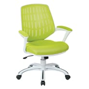 OSP Designs Ave Six Calvin Mid-Back Mesh Office Chair; Green