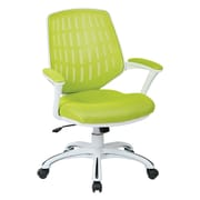 OSP Designs Ave Six Calvin Mid-Back Mesh Task Chair with Arms; Green