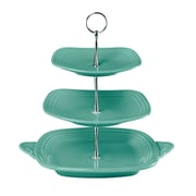 Fiesta 3 Tier Serving Stand; Turquoise
