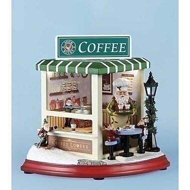 Roman, Inc. Mus LED Coffee Shop Rotate Figurine