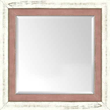Melissa Van Hise Framed Mirror; French White and Autumn Spice