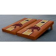 Victory Tailgate NCAA Rosewood Stained Cornhole Game Set; Texas State University Bobcats