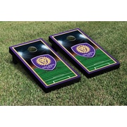Victory Tailgate MLS Team Soccer Field Version 1 Cornhole Game Set; Orlando City Lions