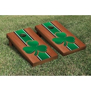 Victory Tailgate NCAA Rosewood Stained Cornhole Game Set; Shamrock