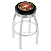 Holland Bar Stool US Armed Forces 30'' Swivel Bar Stool; Marines