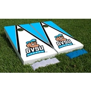 Victory Tailgate NCAA Triangle Wooden Logo Cornhole Game Set; Grand Valley State Lakers - Logo