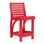 CR Plastic Products St Tropez 24'' Bar Stool; Red