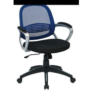 OSP Designs Bridgeport Mid-Back Office Chair; Navy