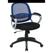 OSP Designs Bridgeport Mid-Back Office Chair; Navy
