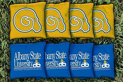 Victory Tailgate NCAA Replacement Corn Filled Cornhole Bag Set; Albany State University Golden Rams WYF078277121023