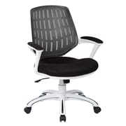 OSP Designs Ave Six Calvin Mid-Back Mesh Office Chair; Black