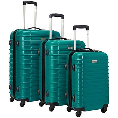 McBRINE Light Weight Polycarbonate 3 Piece Luggage Set, Green