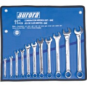 Aurora Tools Combination Wrench Set, S.A.E., 11-Piece